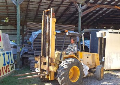 Woodstream Hardwoods Forklift